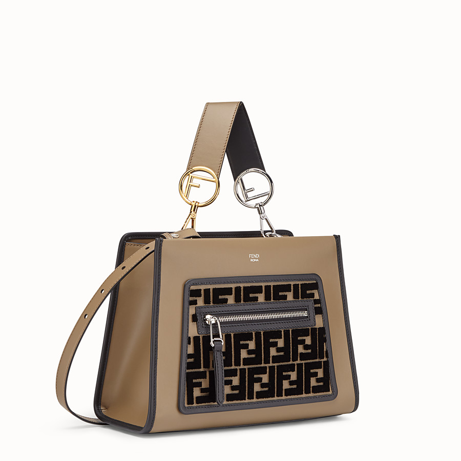 FENDI RUNAWAY SMALL - Brown leather bag - view 2 detail