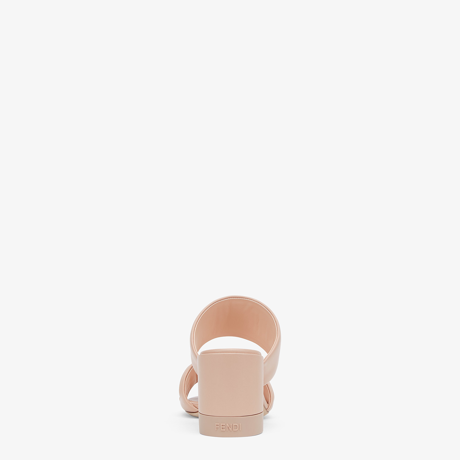 FENDI SLIDES - Pink leather slides - view 3 detail
