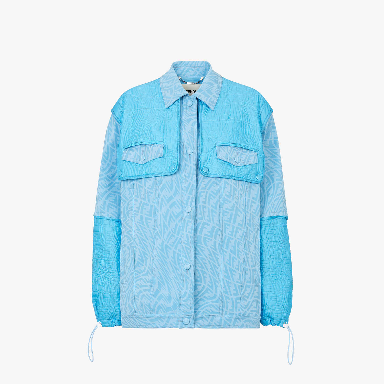 FENDI JACKET - Light blue denim jacket - view 1 detail