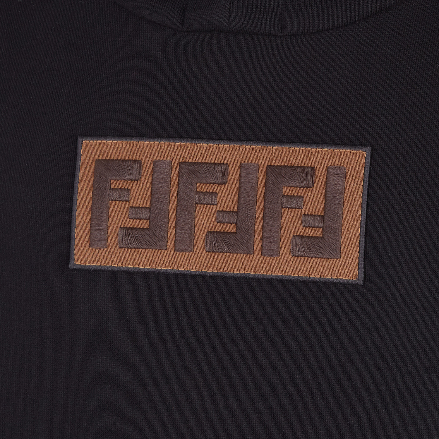 FENDI SWEATSHIRT - Black cotton and cashmere sweatshirt - view 3 detail
