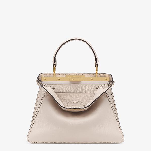 White full grain leather bag
