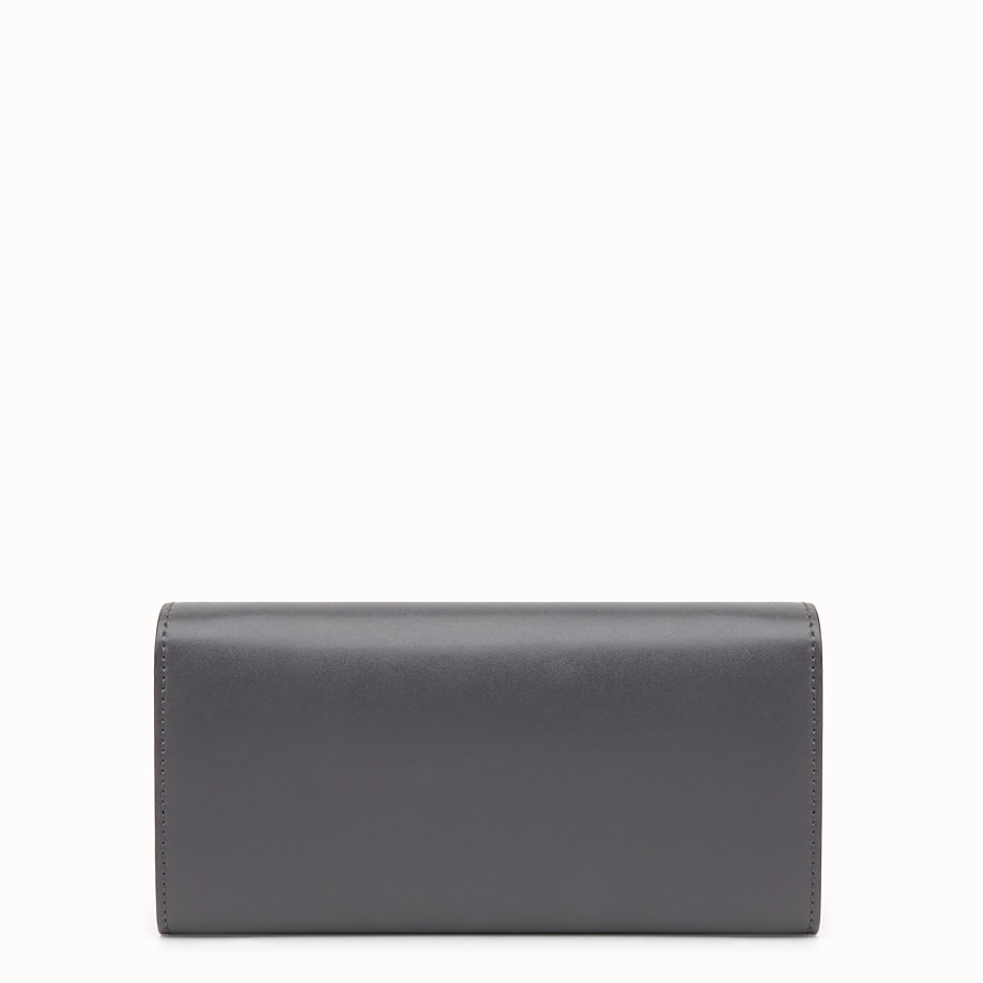 FENDI CONTINENTAL WITH CHAIN - Grey leather wallet - view 3 detail