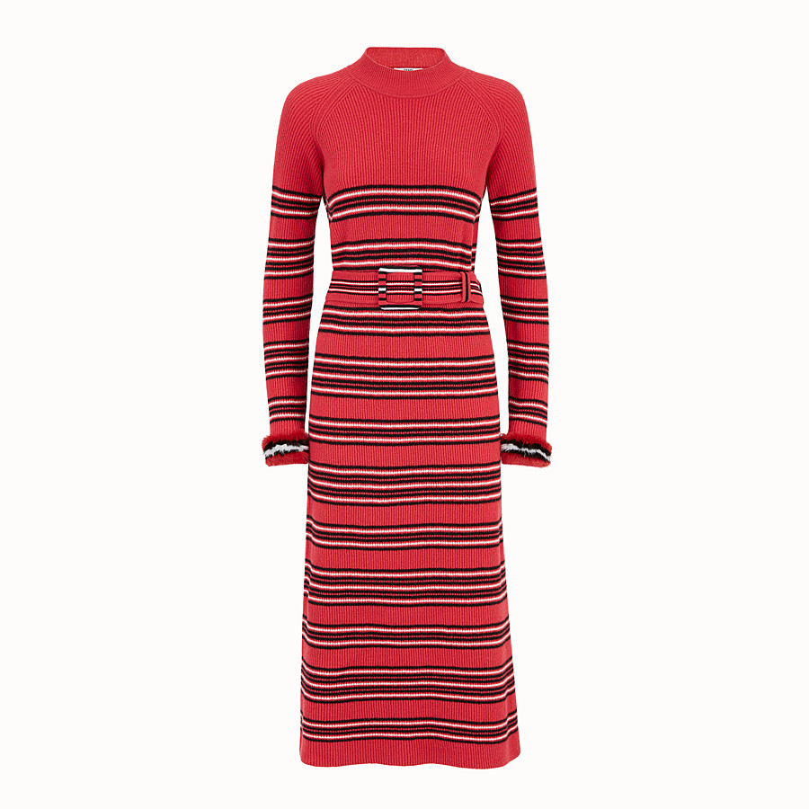 FENDI DRESS - Multicolour wool and cashmere dress - view 1 detail