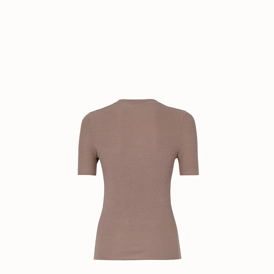 FENDI PULLOVER - Beige silk and wool jumper - view 2 detail