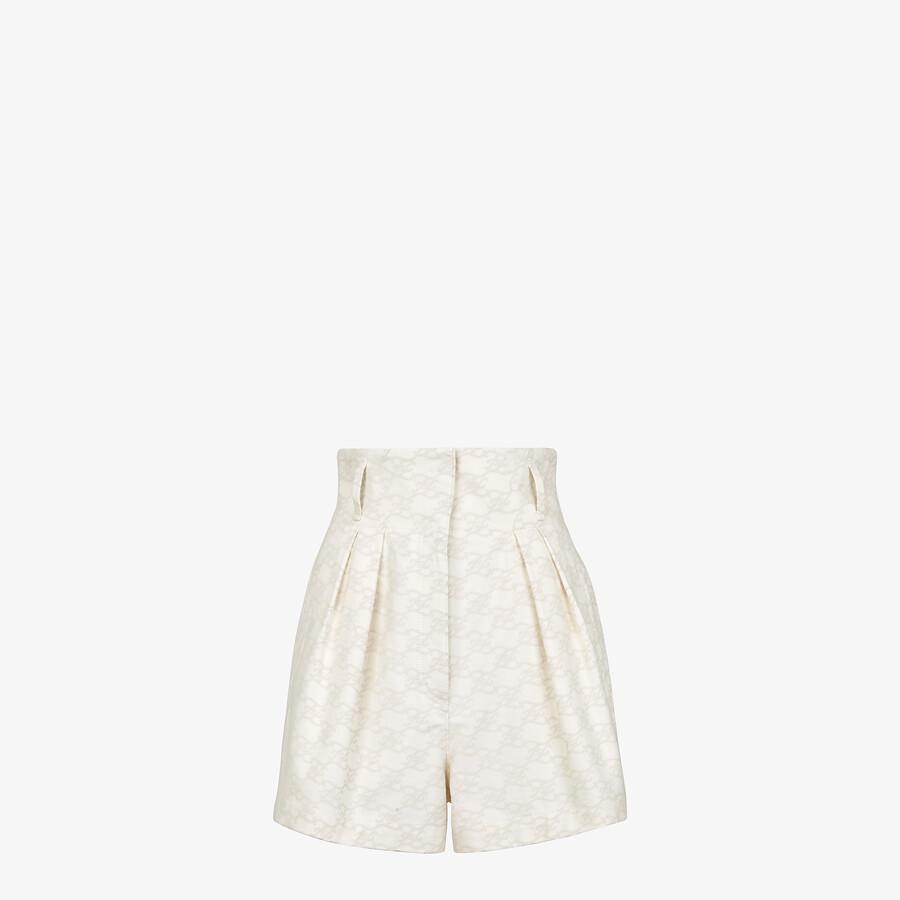 FENDI SHORTS - Cream denim shorts - view 1 detail