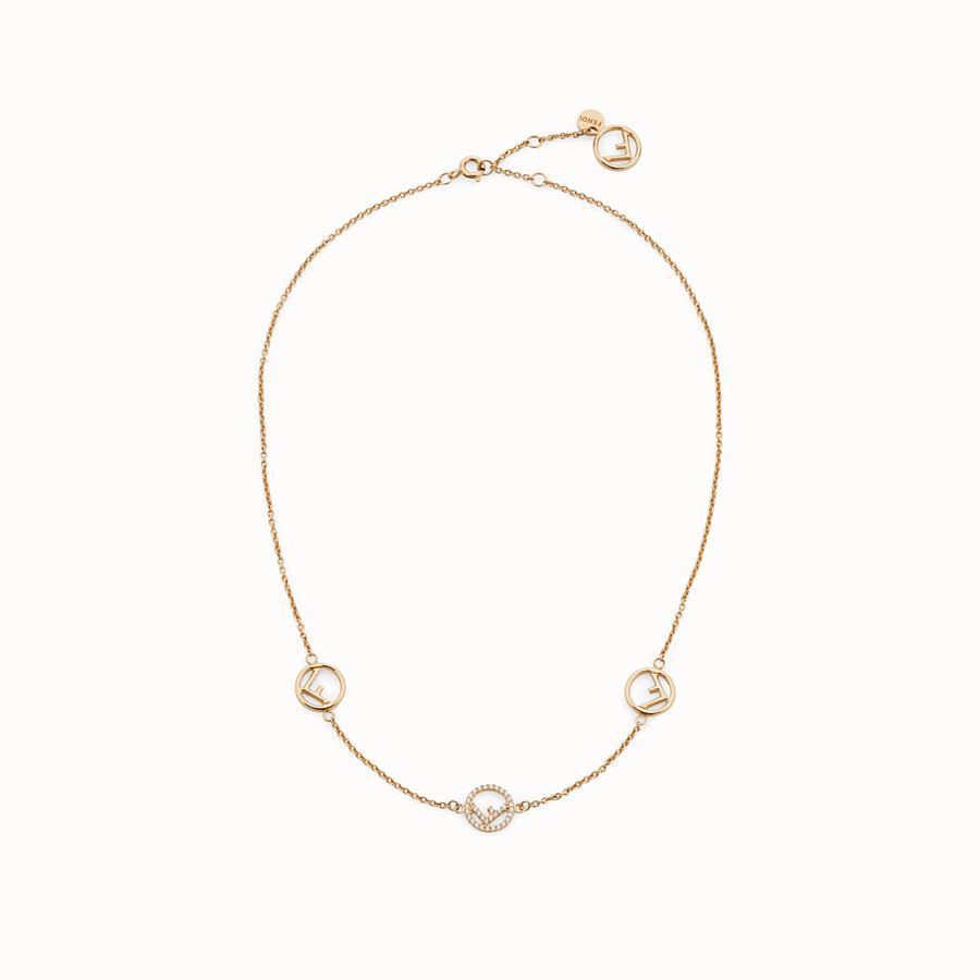 FENDI F IS FENDI NECKLACE - Gold color necklace - view 1 detail