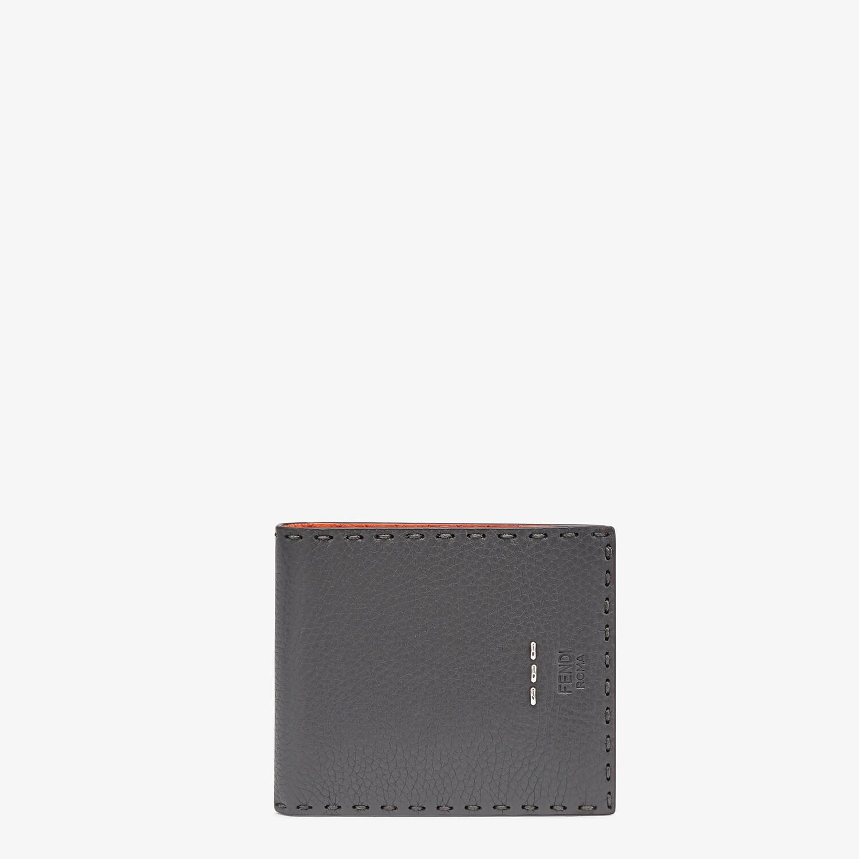 FENDI WALLET - Bi-fold wallet in gray leather - view 1 detail