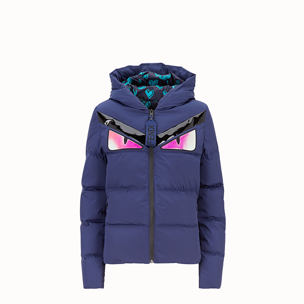 FENDI DOWN JACKET - Blue tech fabric down jacket - view 1 small thumbnail