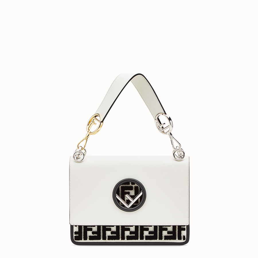 FENDI KAN I F - White leather bag - view 1 detail