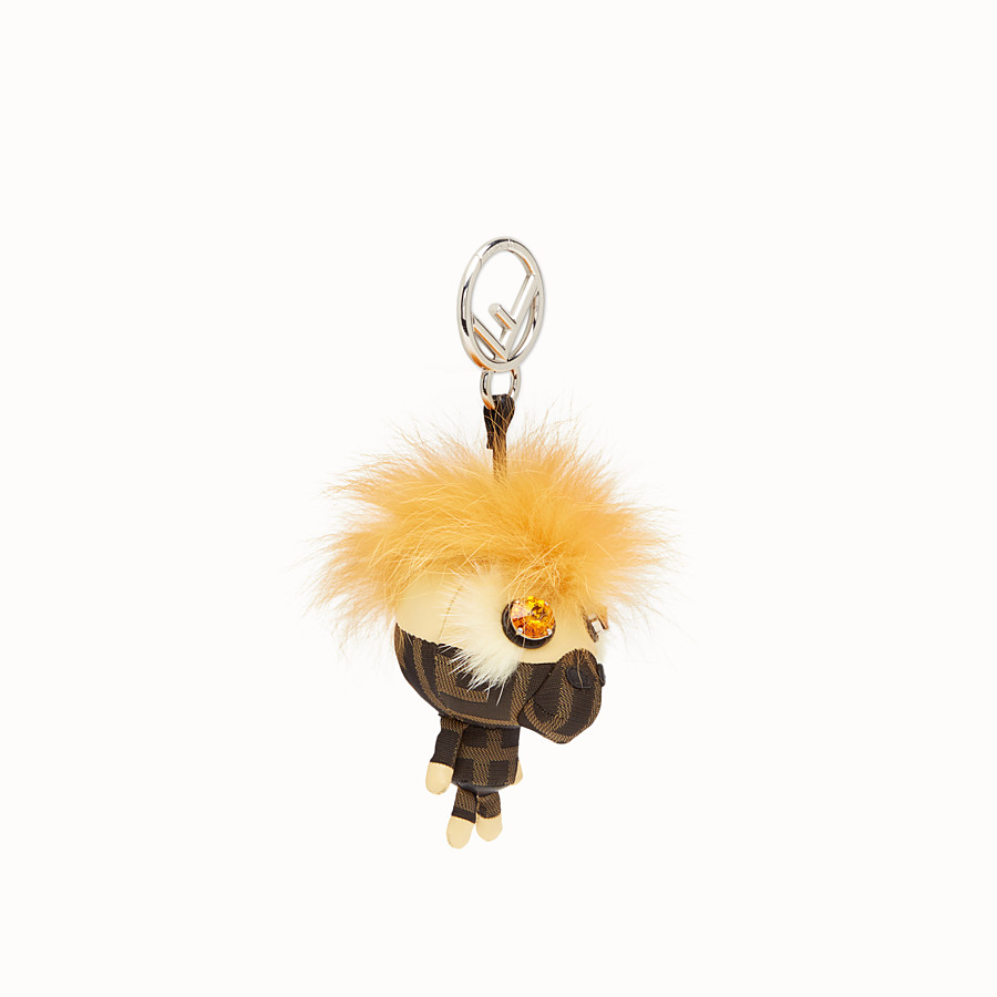 FENDI SPACE MONKEY - Multicolour fur charm - view 1 detail