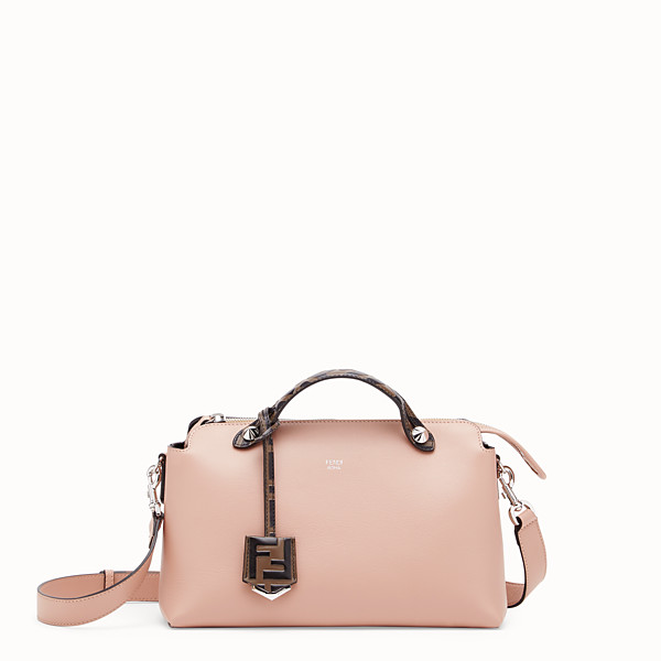 FENDI BY THE WAY MEDIUM - Pink leather Boston bag - view 1 small thumbnail