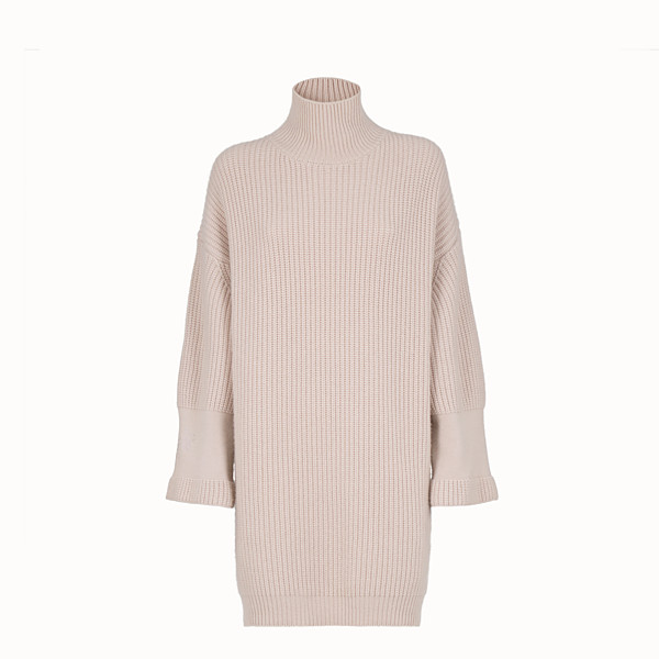 FENDI DRESS - Pink cashmere dress - view 1 small thumbnail