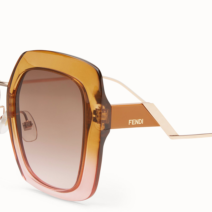 FENDI TROPICAL SHINE - Gafas de sol marrones y rosas - view 3 detail