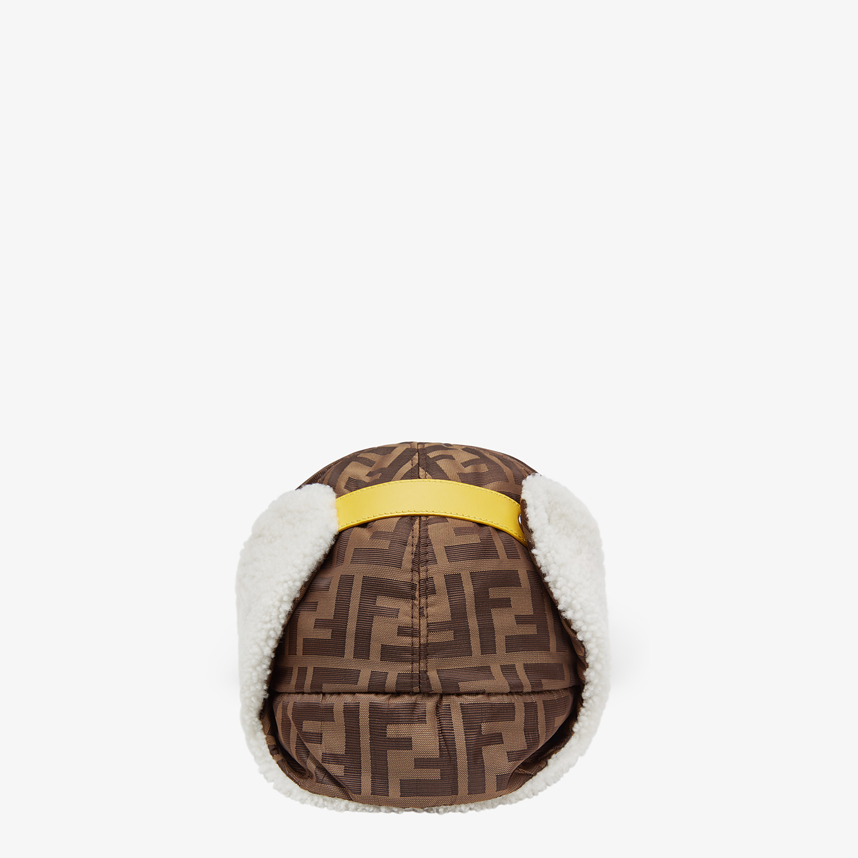 FENDI HAT - Brown fabric and sheepskin baseball cap - view 2 detail