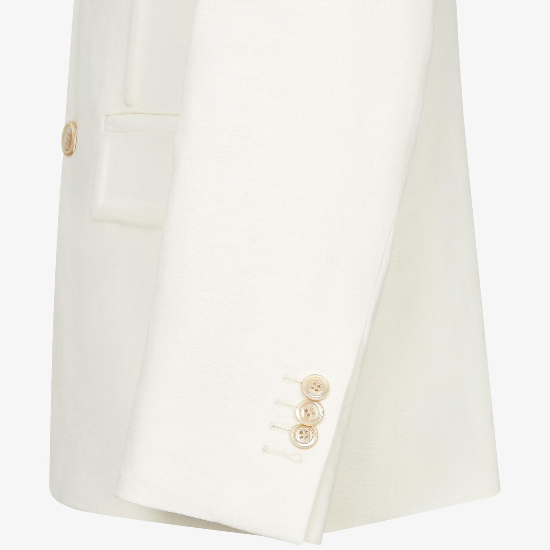 FENDI JACKET - White linen blazer - view 3 detail
