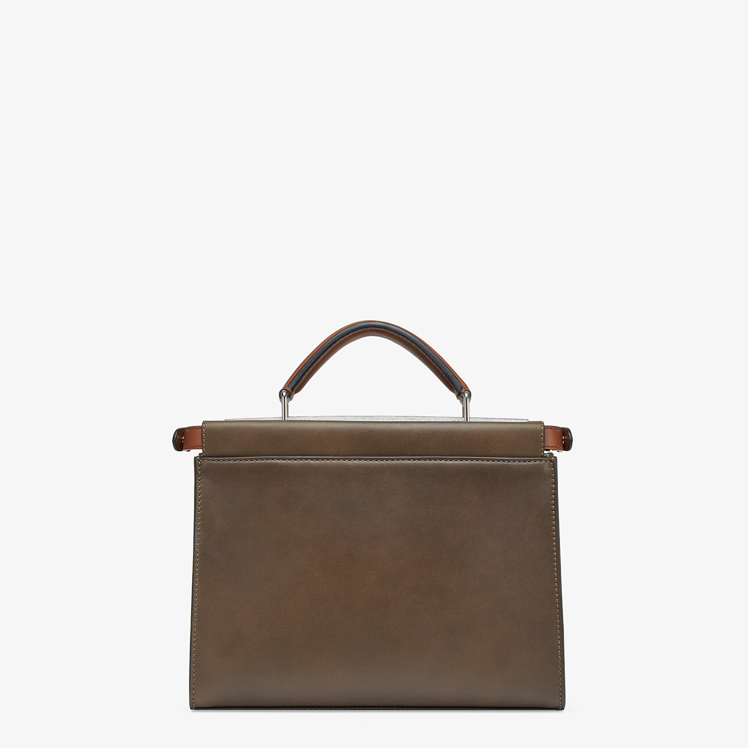 FENDI PEEKABOO ICONIC FIT MINI - Brown leather bag - view 3 detail