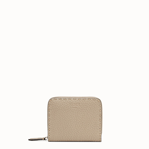 FENDI MEDIUM ZIP-AROUND - Beige leather wallet - view 1 small thumbnail