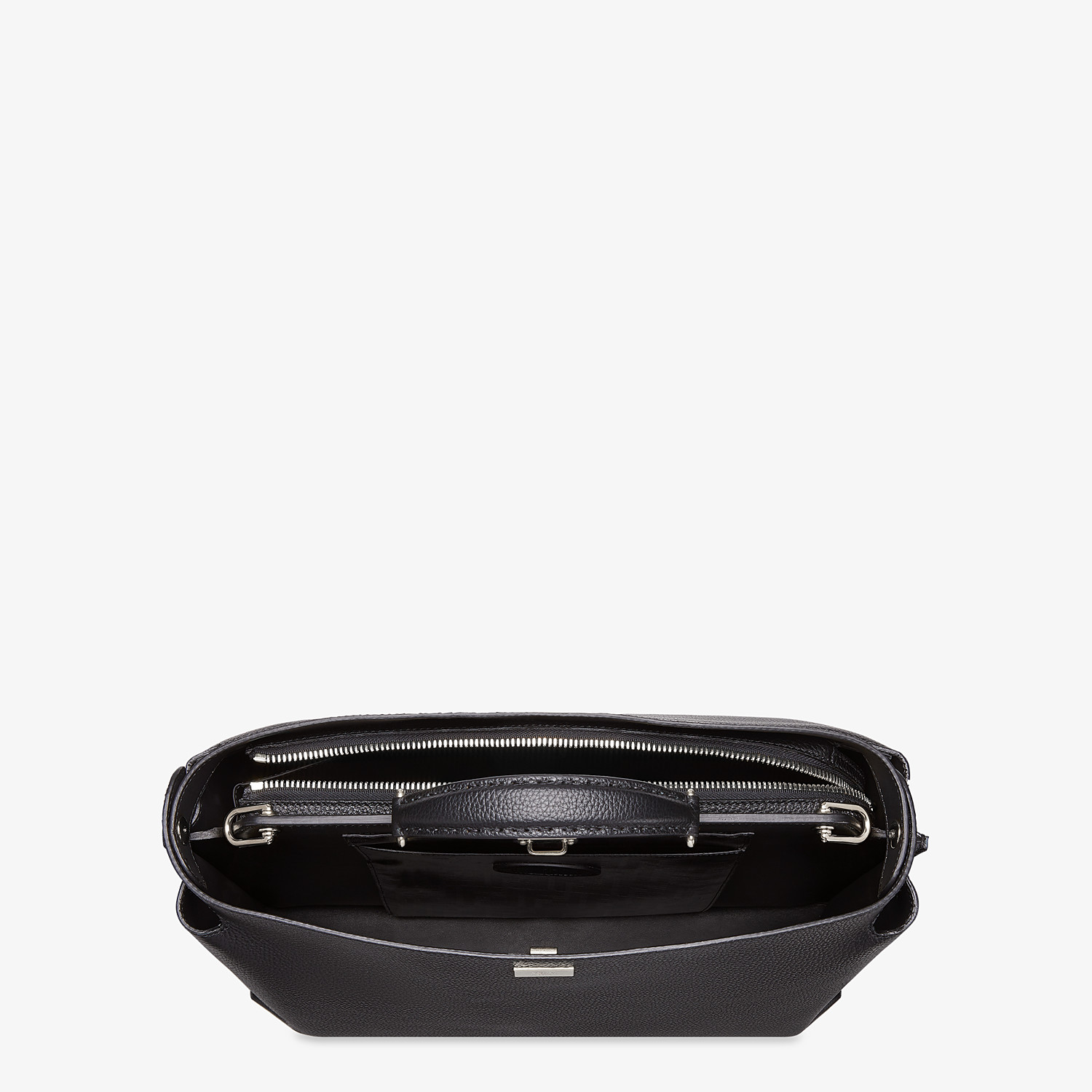 FENDI PEEKABOO ICONIC ESSENTIAL - Black leather bag - view 4 detail