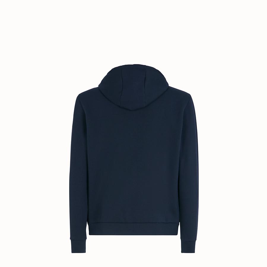 FENDI SWEATSHIRT - Blue cotton jersey sweatshirt - view 2 detail