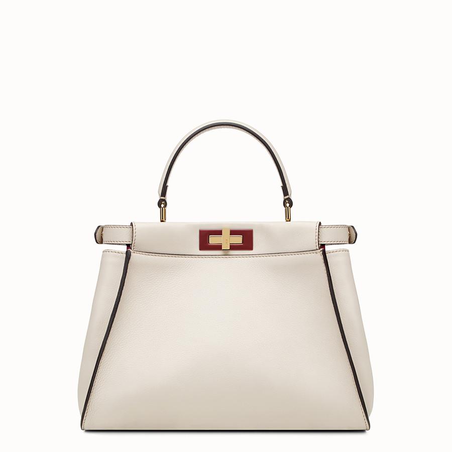 FENDI ピーカブー - grey leather handbag - view 3 detail