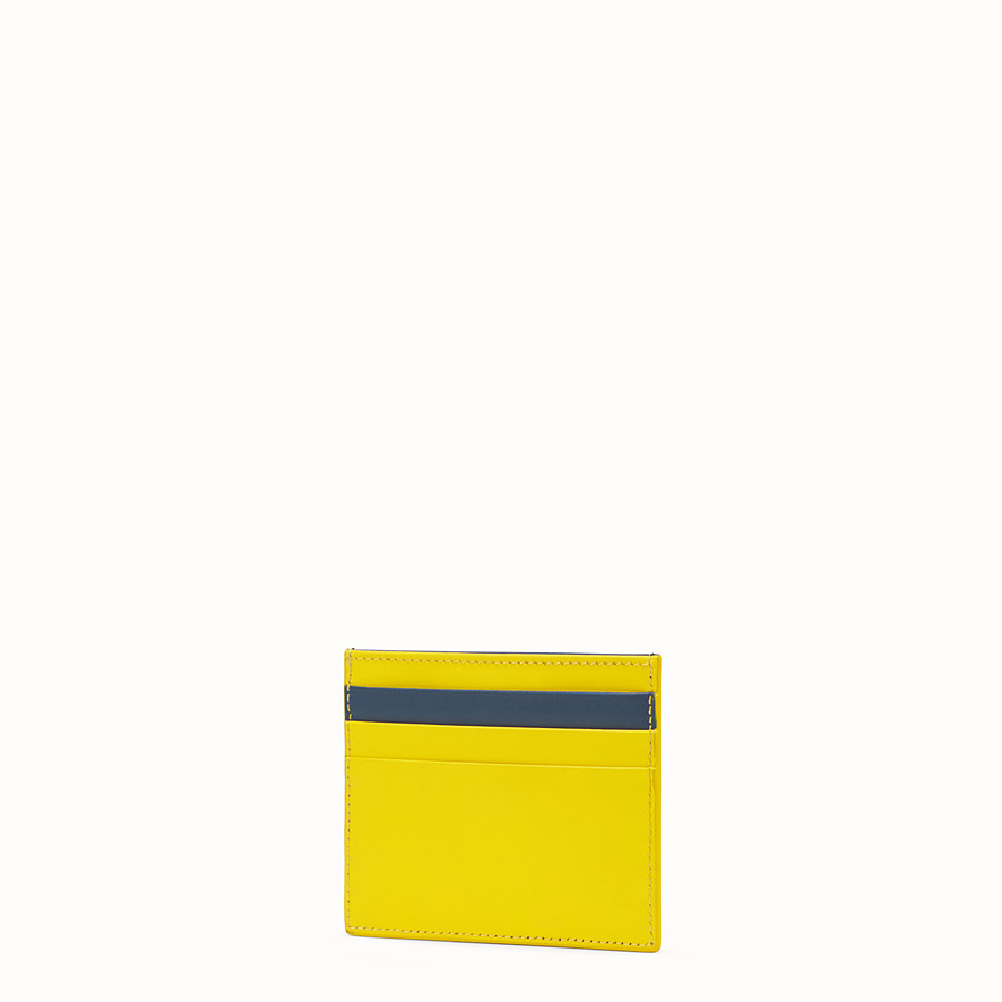 FENDI CARD HOLDER - Multicolor leather card holder - view 2 detail