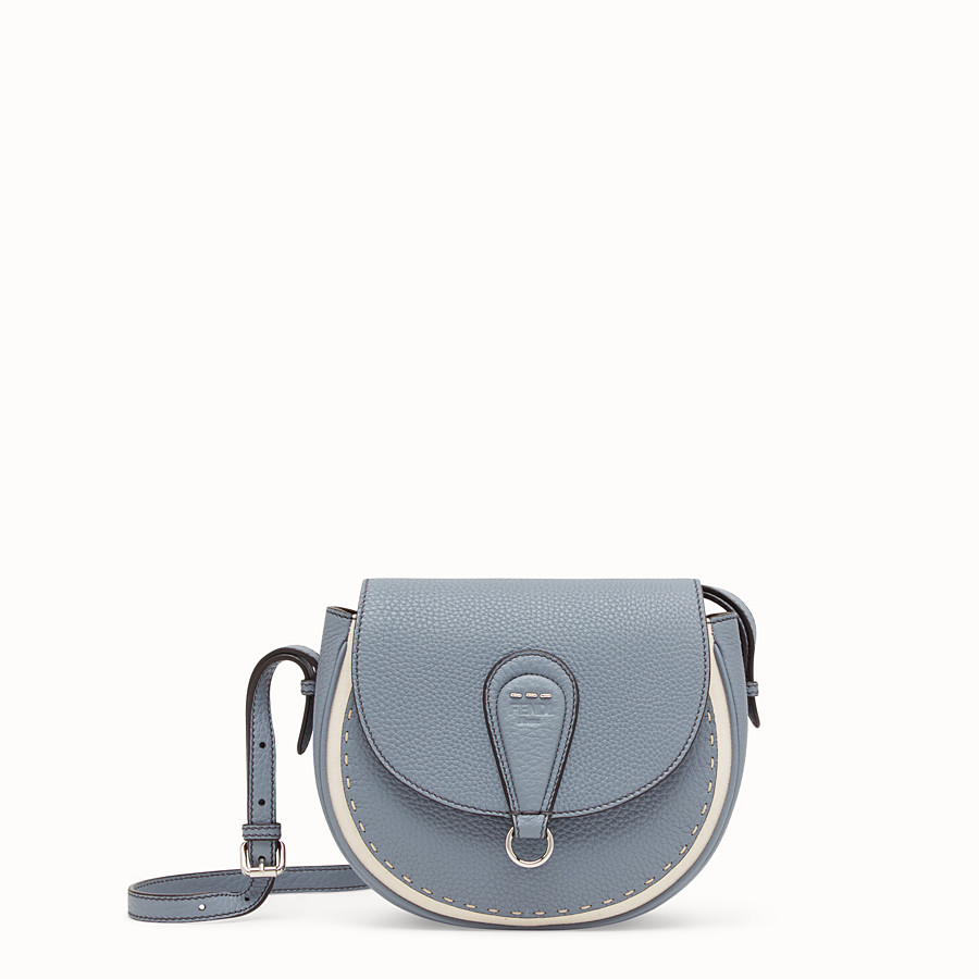 FENDI SHOULDER BAG - Pale blue leather bag - view 1 detail