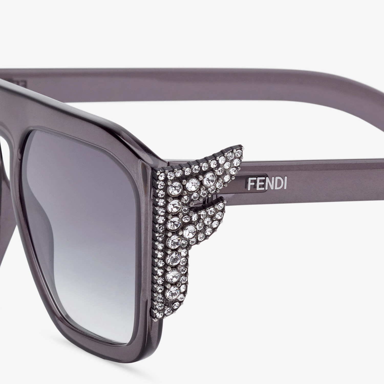 FENDI FFREEDOM - Grey sunglasses - view 3 detail