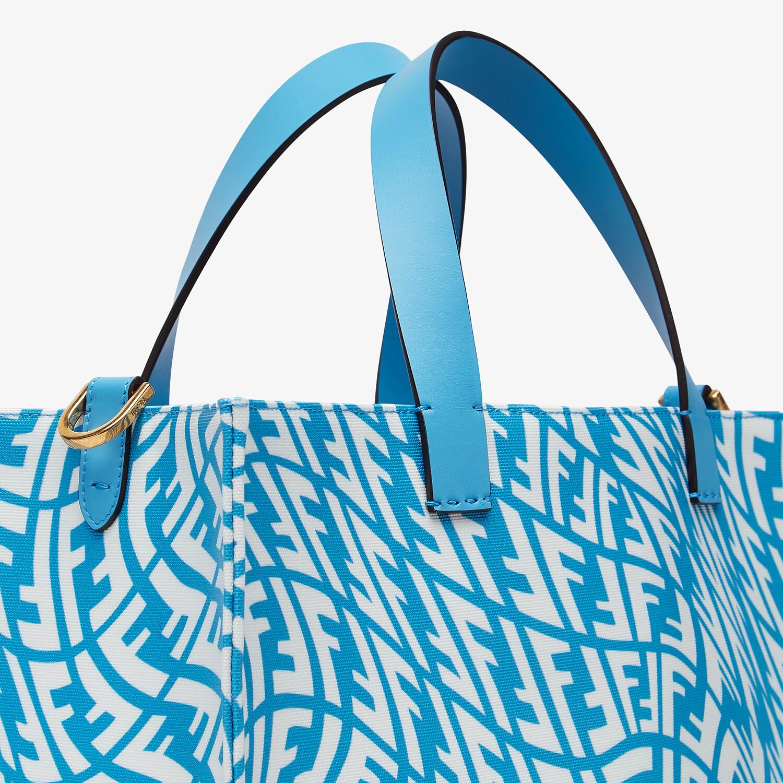 FENDI SHOPPER - Blue glazed canvas bag - view 6 detail