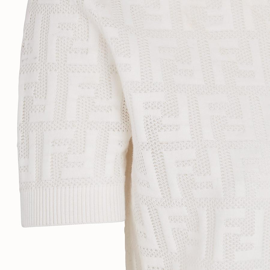 FENDI SWEATER - White cotton sweater - view 3 detail