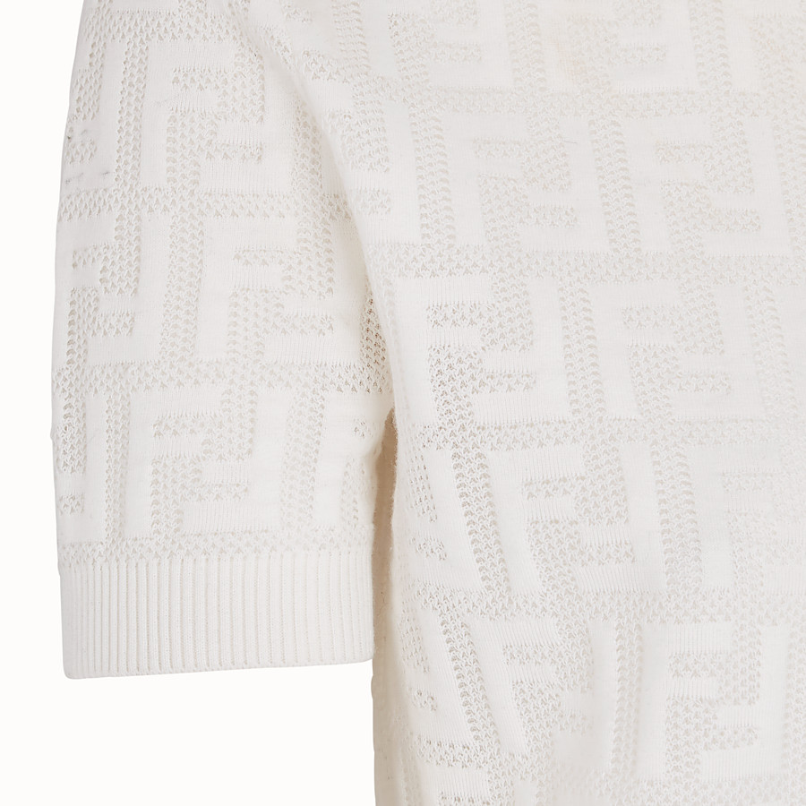 FENDI JUMPER - White cotton jumper - view 3 detail