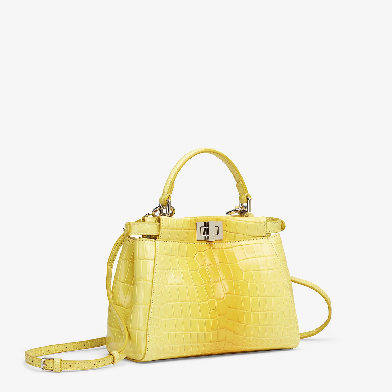 FENDI PEEKABOO ICONIC MINI - Yellow crocodile leather bag - view 2 detail