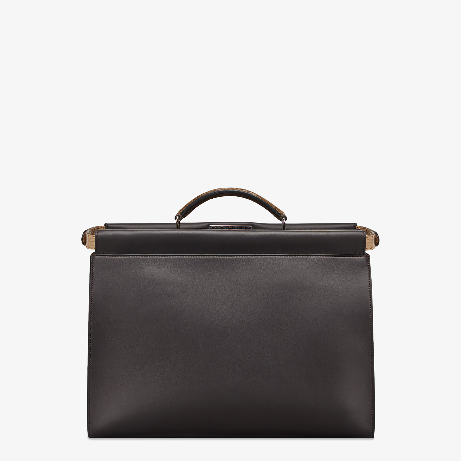 FENDI PEEKABOO ICONIC MEDIUM - Brown leather bag - view 3 detail