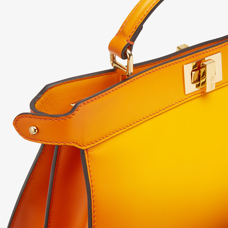 FENDI PEEKABOO ISEEU EAST-WEST - Orange leather bag - view 5 detail