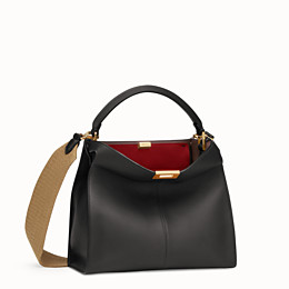 e2a9616fa2eb Black leather bag - PEEKABOO X-LITE REGULAR | Fendi