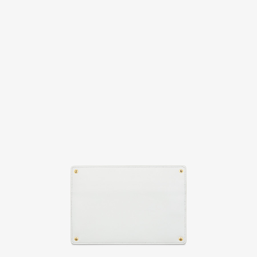 FENDI PEEKABOO ISEEU POCKET - White leather accessory pocket - view 2 detail