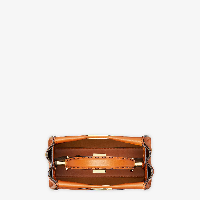 FENDI PEEKABOO ICONIC MINI - Sac en cuir marron - view 4 detail