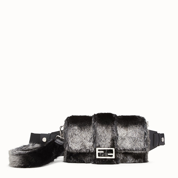 FENDI BAGUETTE - Silver mink bag - view 1 small thumbnail