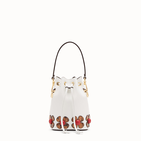 FENDI MON TRESOR - White leather mini-bag with exotic details - view 1 small thumbnail