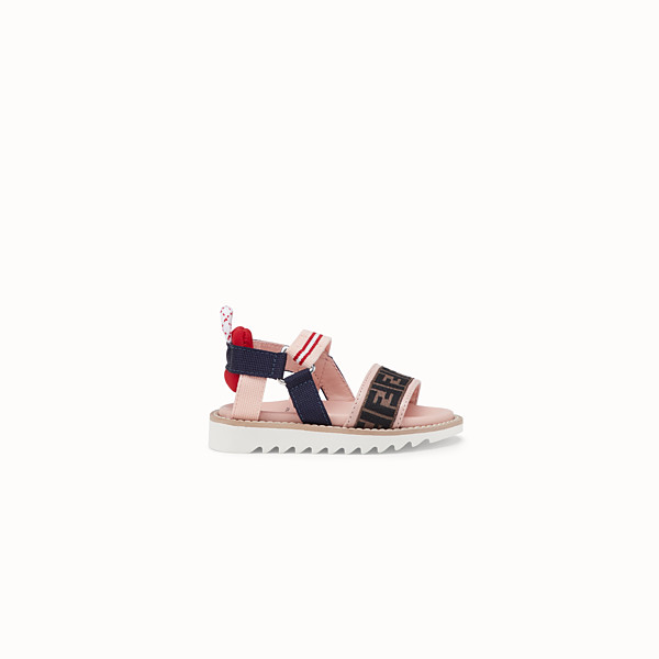 FENDI SANDALS - Pink first steps neoprene sandals - view 1 small thumbnail