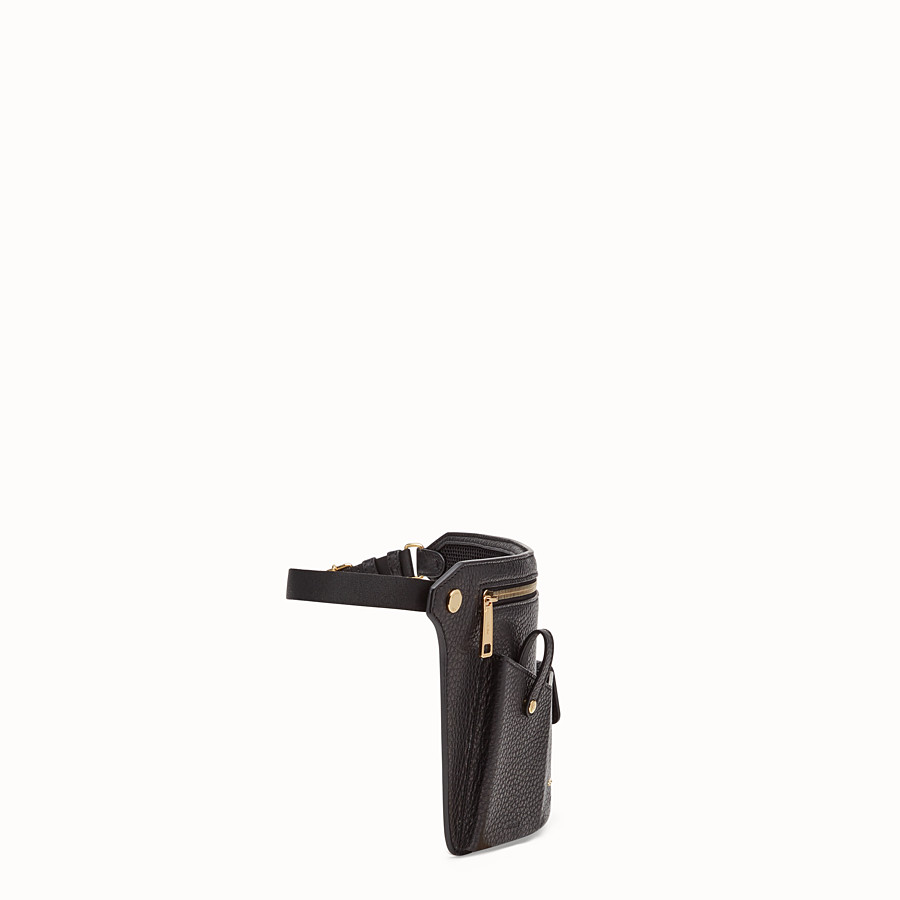 FENDI POUCH - Black leather cross-body bag - view 2 detail
