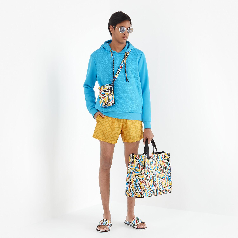 FENDI SWIM SHORTS - Yellow Lycra® shorts - view 4 detail