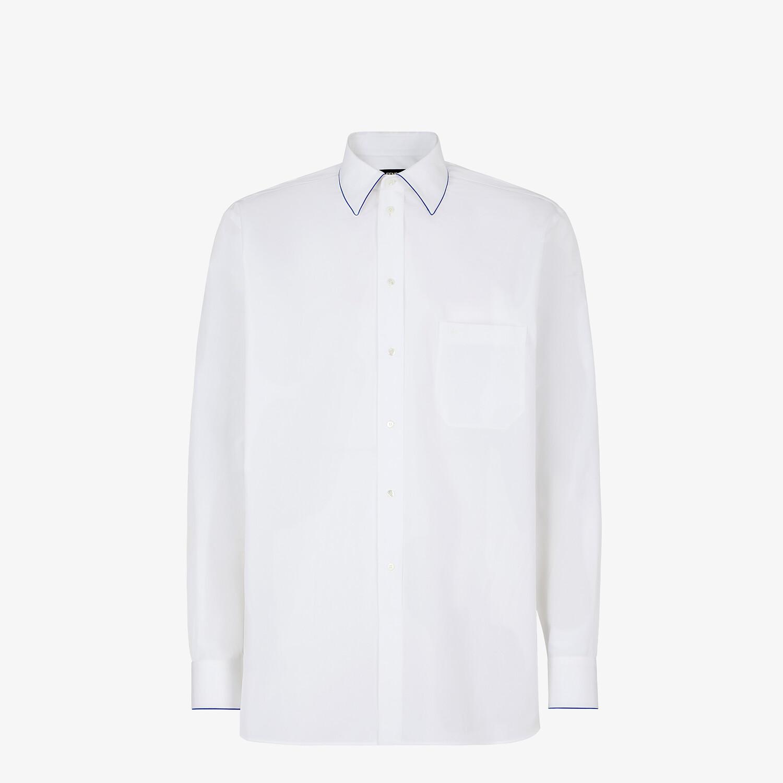 FENDI SHIRT - White cotton shirt - view 1 detail