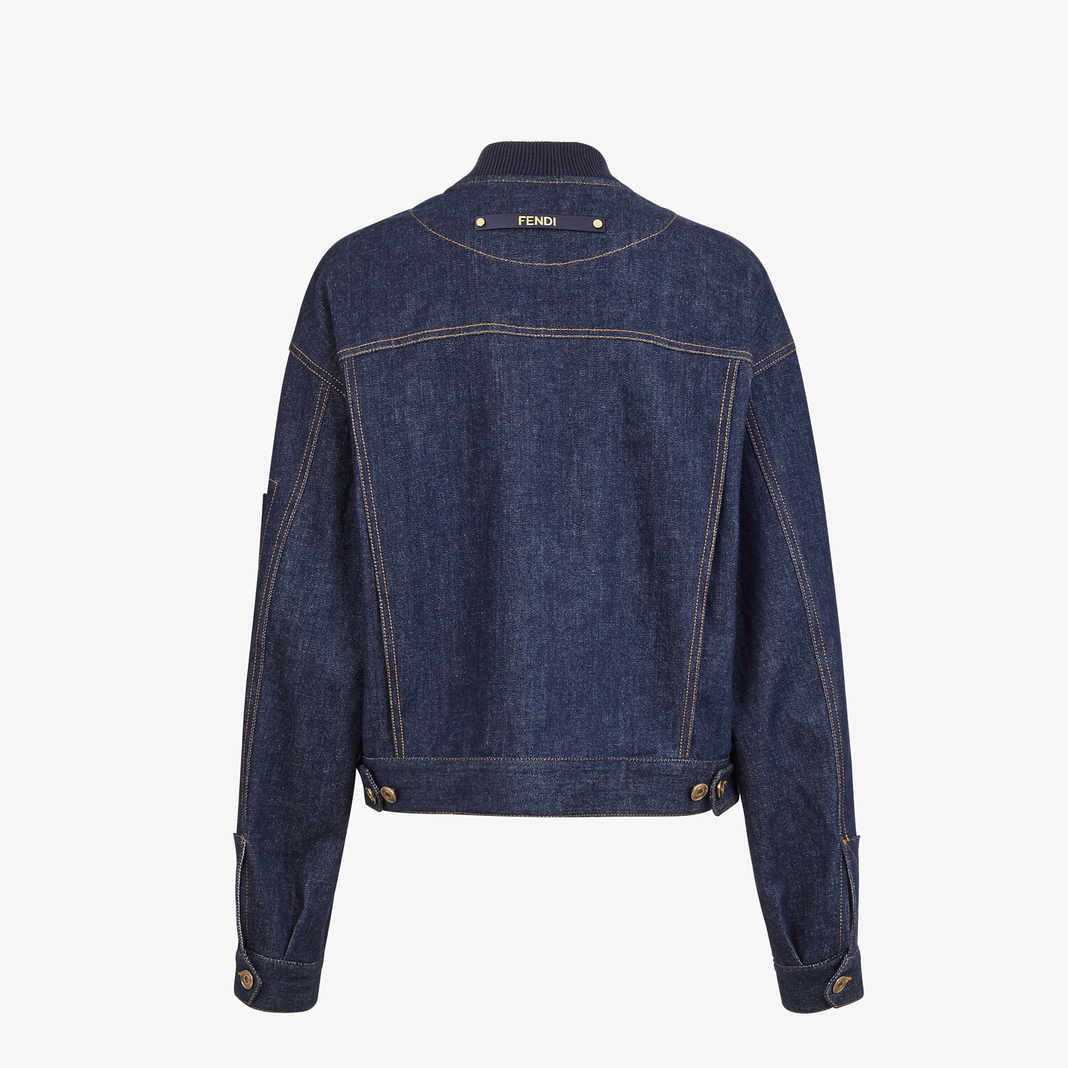 FENDI JACKET - Blue denim bomber jacket - view 2 detail