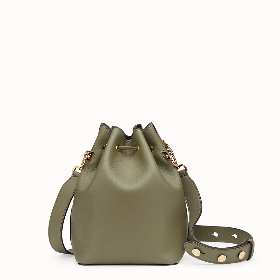 FENDI MON TRESOR - Green leather bag - view 3 detail