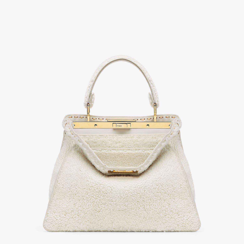 FENDI PEEKABOO ISEEU MEDIUM - White sheepskin bag - view 1 detail