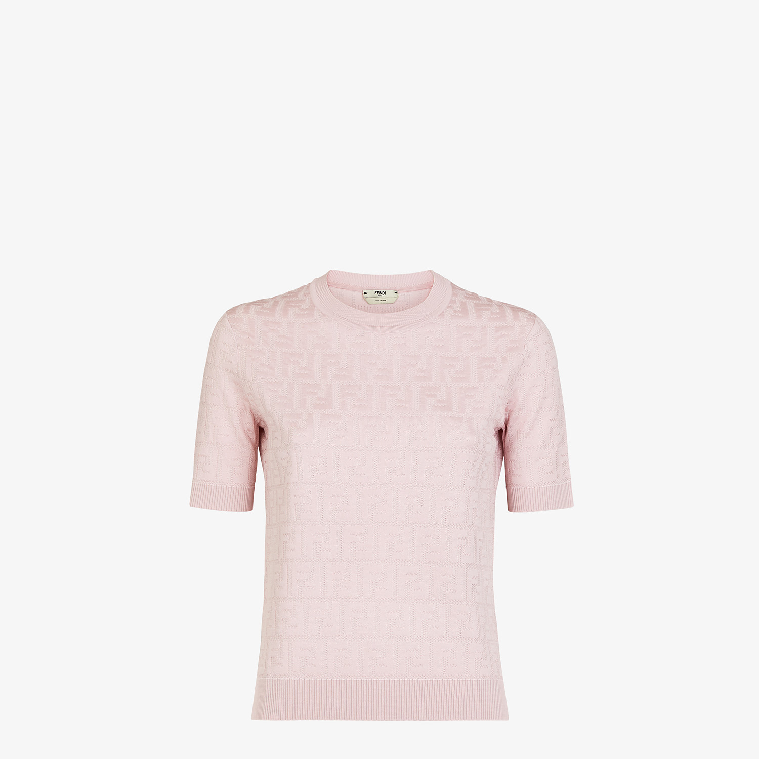 FENDI JUMPER - Pink cotton and viscose jumper - view 1 detail