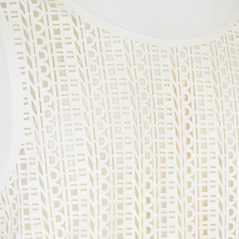 FENDI T-SHIRT - White jersey T-shirt - view 3 detail