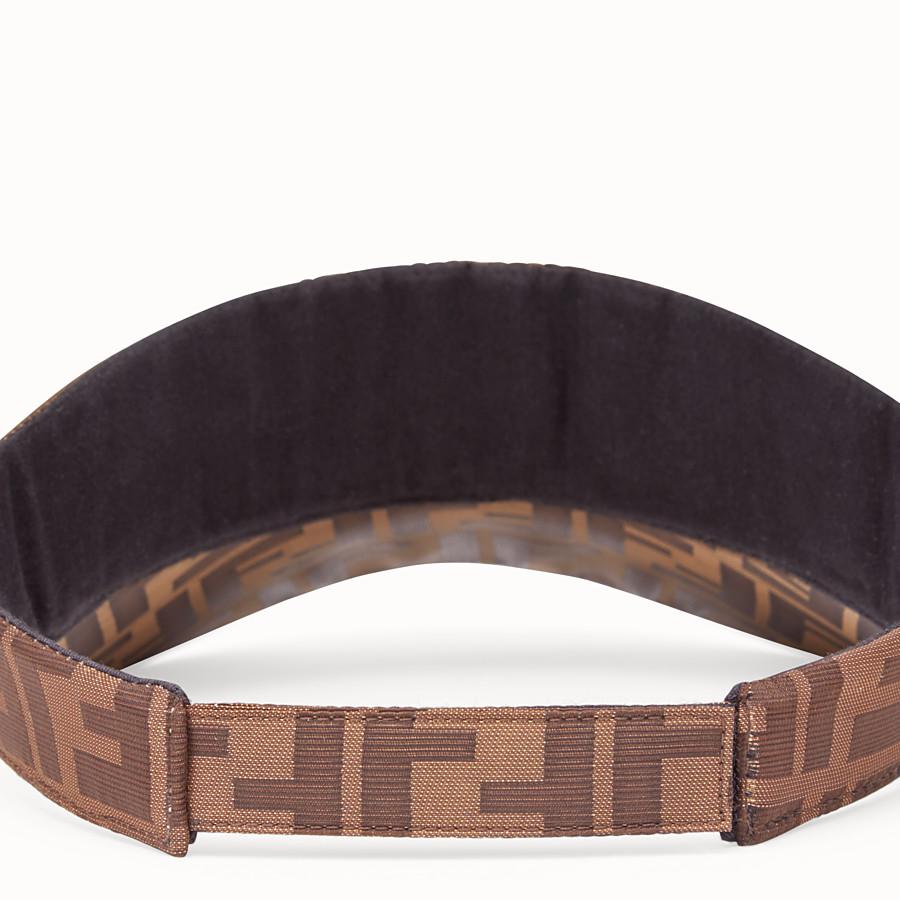 FENDI VISOR - Brown cotton visor - view 2 detail