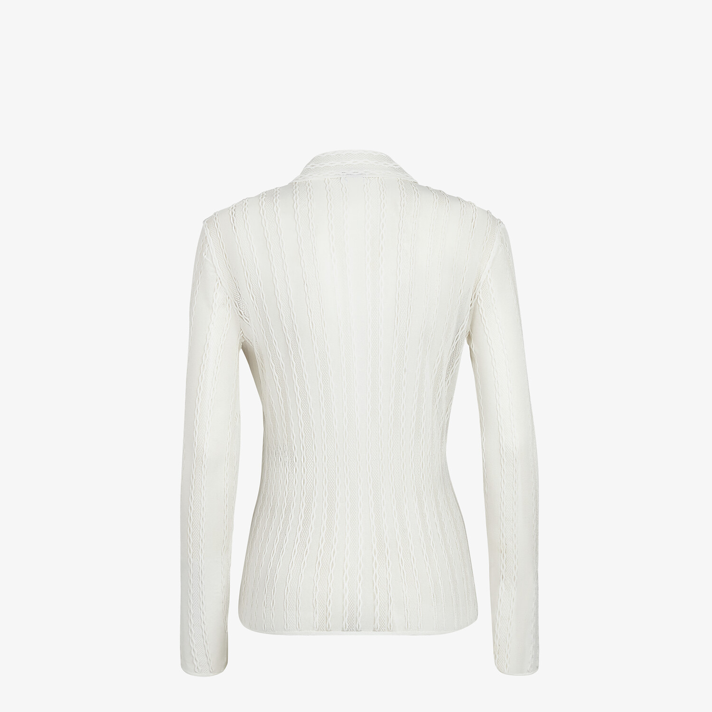 FENDI CARDIGAN - White lace cardigan - view 2 detail
