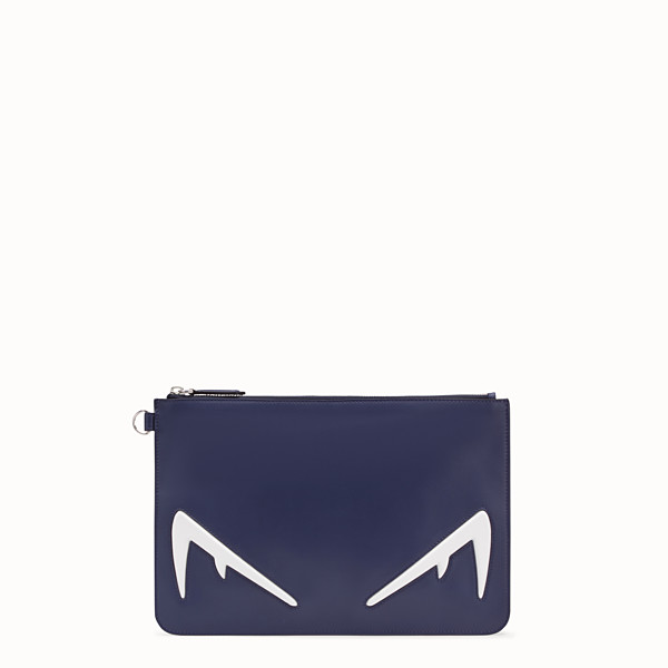 FENDI POUCH - Blue leather pochette - view 1 small thumbnail